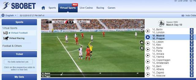 Cara bermain virtual sports yang benar di sbobet